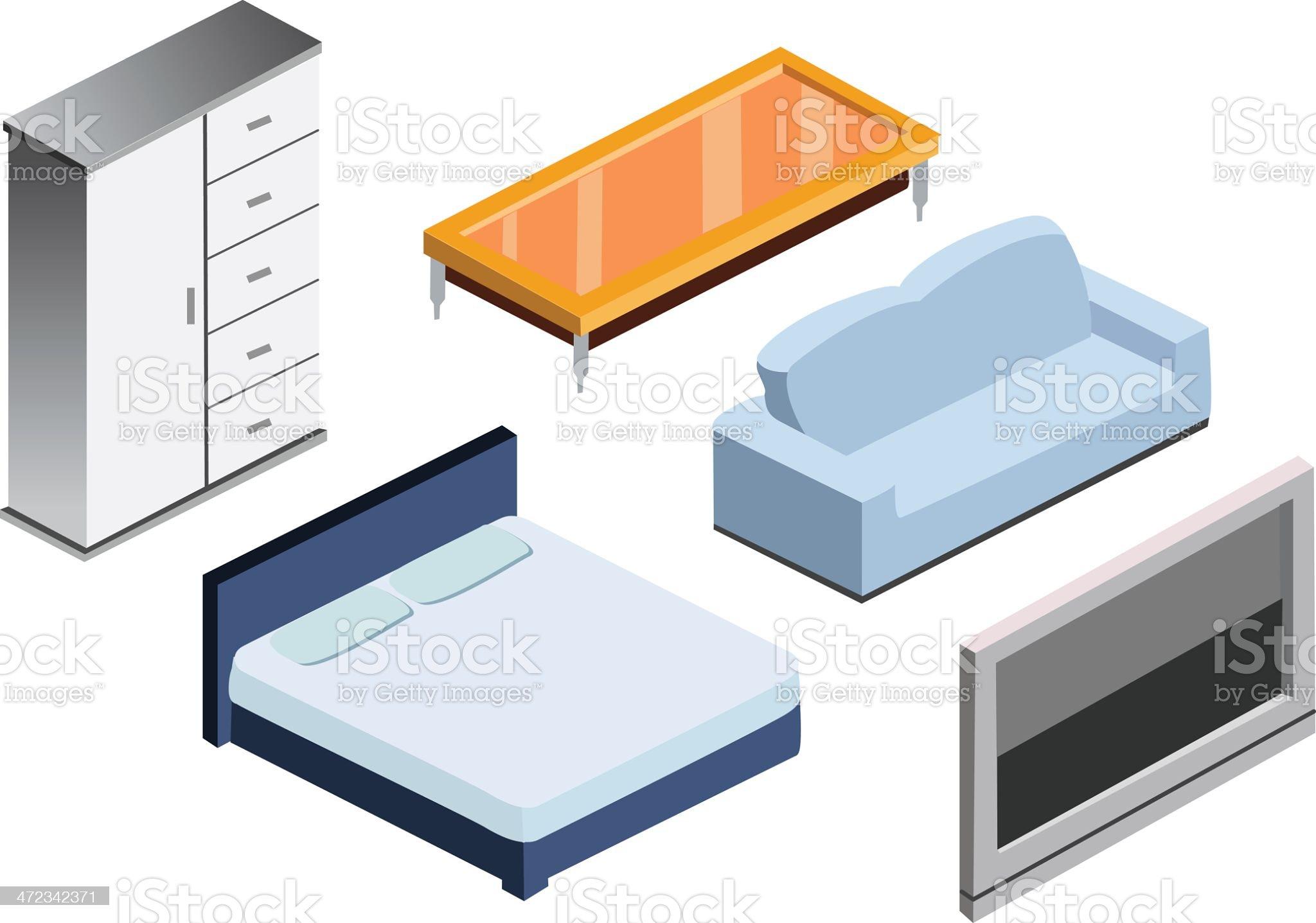 Furniture Icon Set royalty-free stock vector art