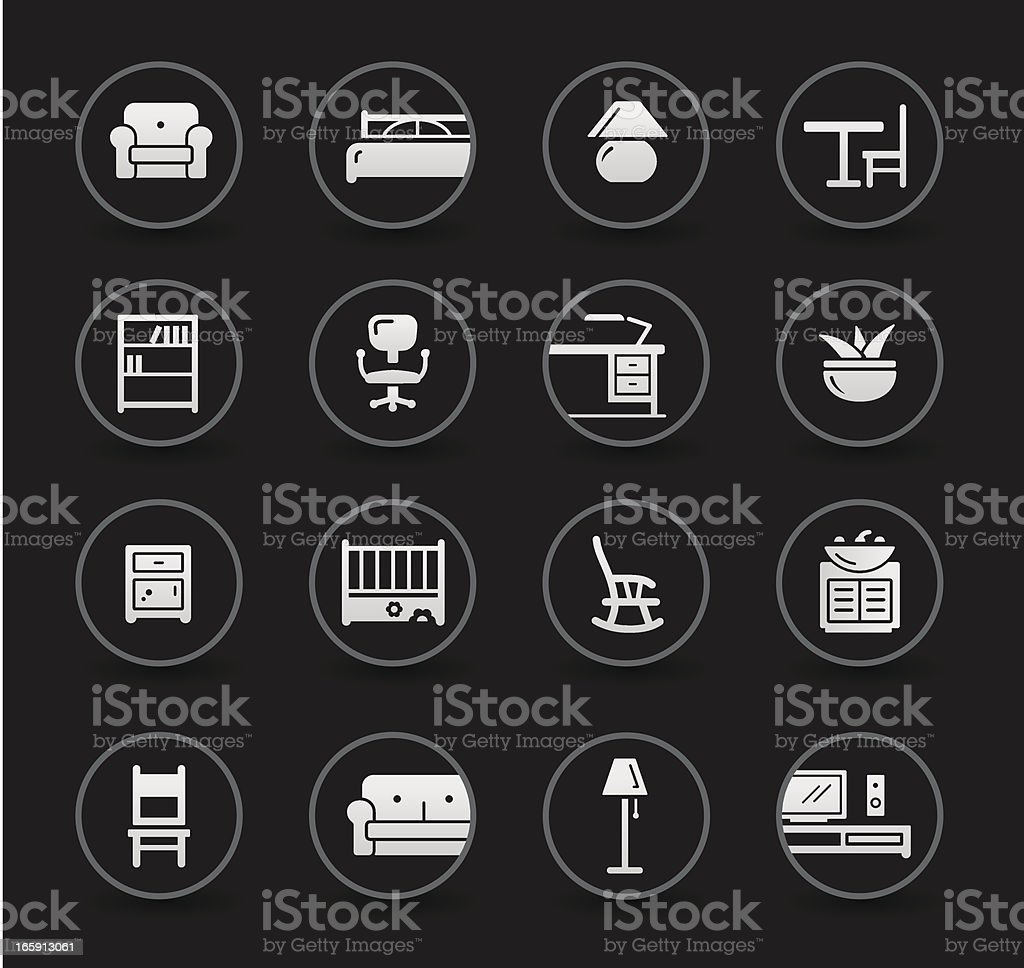 Furniture Icons | Black royalty-free stock vector art
