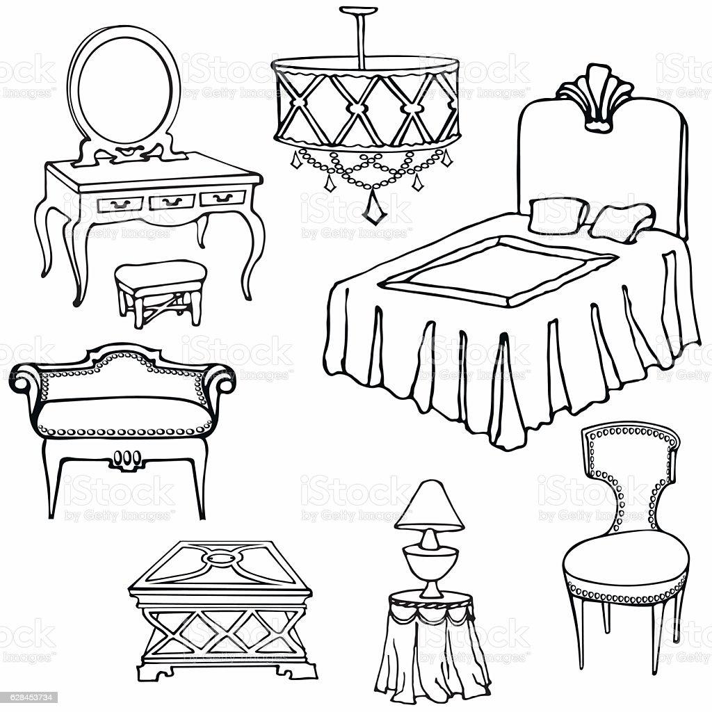 furniture second bed vector art illustration