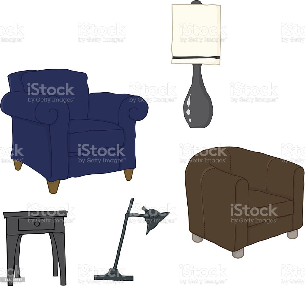 Furniture set royalty-free stock vector art