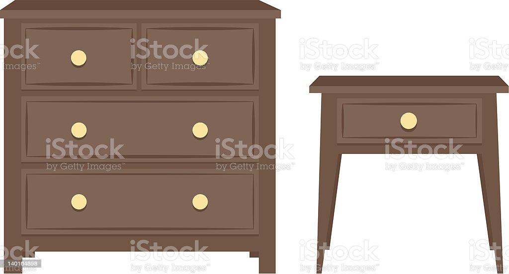 Furniture vector art illustration