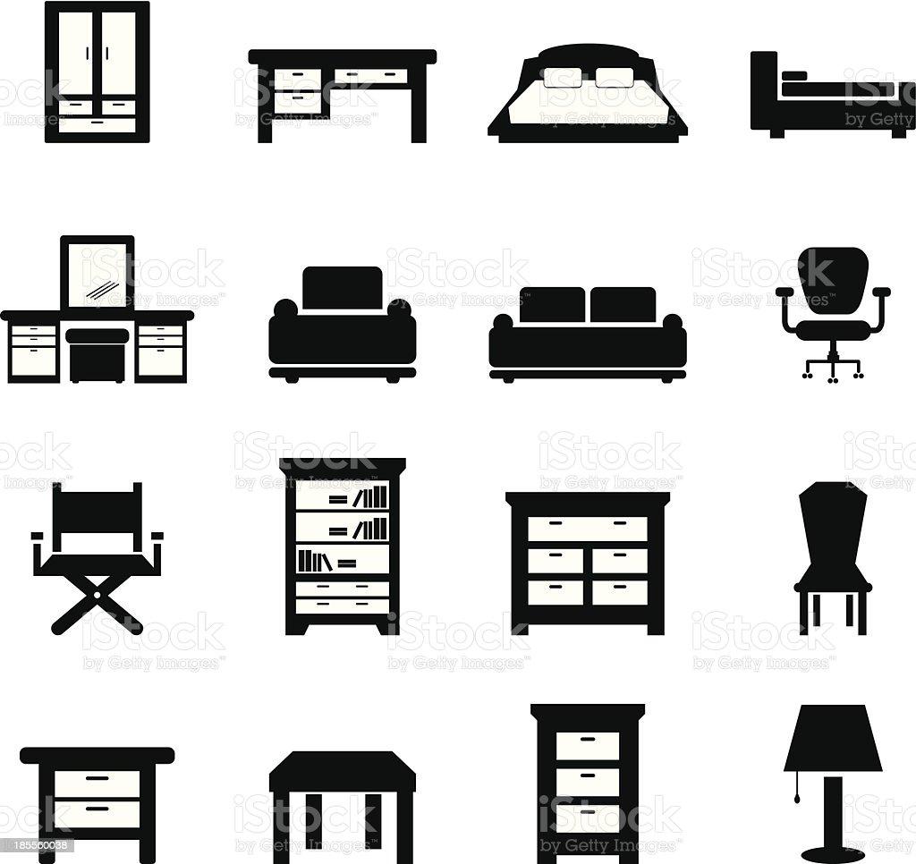 Furniture vector royalty-free stock vector art
