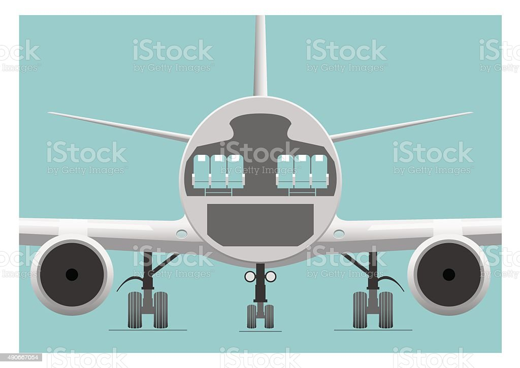 Fuselage cross section vector art illustration