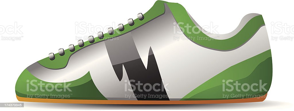 Futsal Indoor Soccer Shoes royalty-free stock vector art