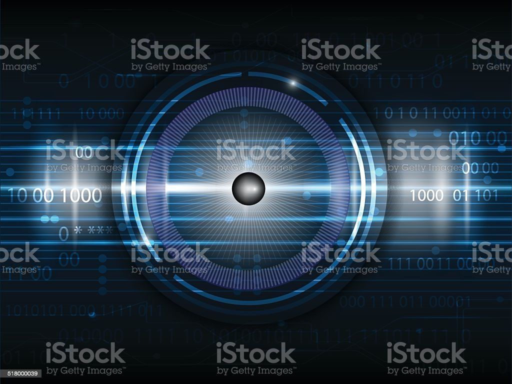 Future digital  technology vector art illustration