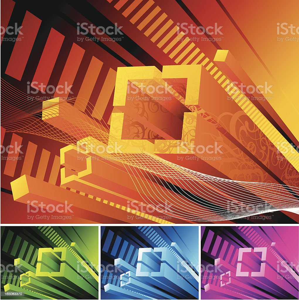 Futuristic 3d background royalty-free stock vector art