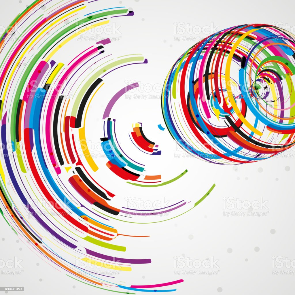 Futuristic abstract shape illustration royalty-free stock vector art