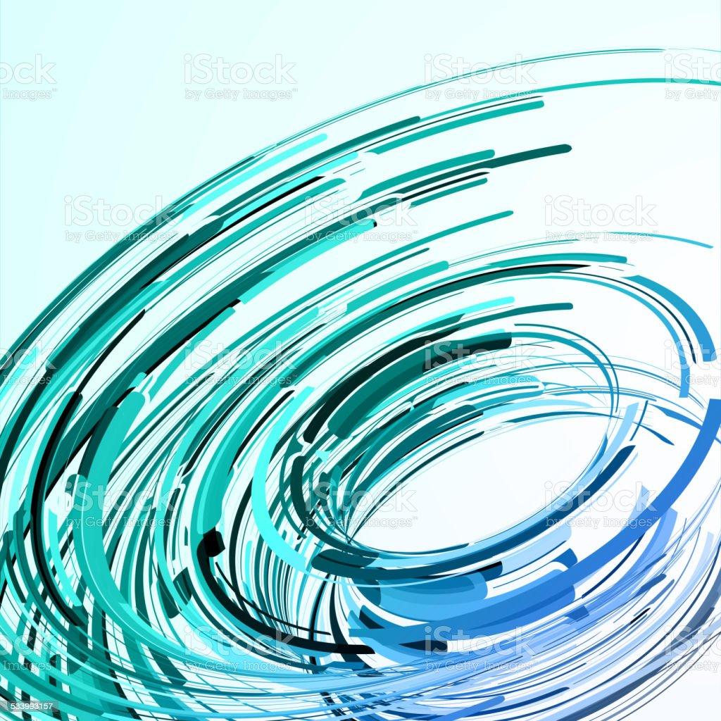 Futuristic abstract shape illustration vector art illustration