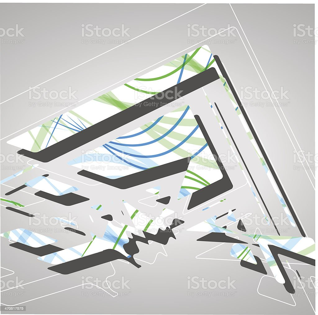Futuristic background, geometric illustration. royalty-free stock vector art