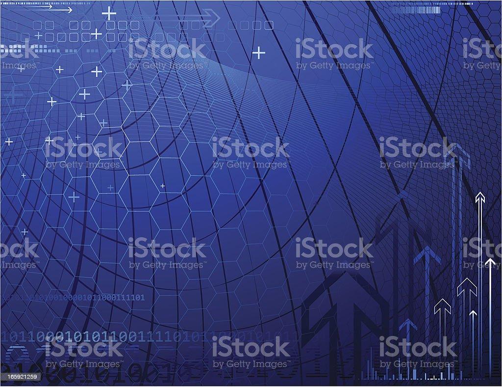 Futuristic background. vector art illustration