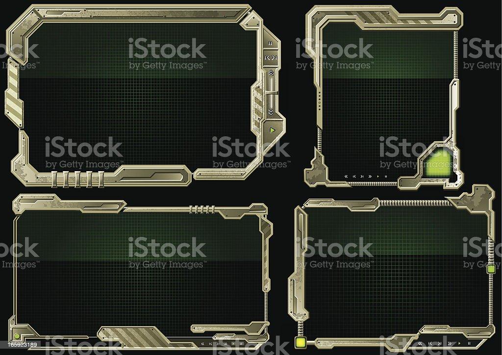 Futuristic Border royalty-free stock vector art