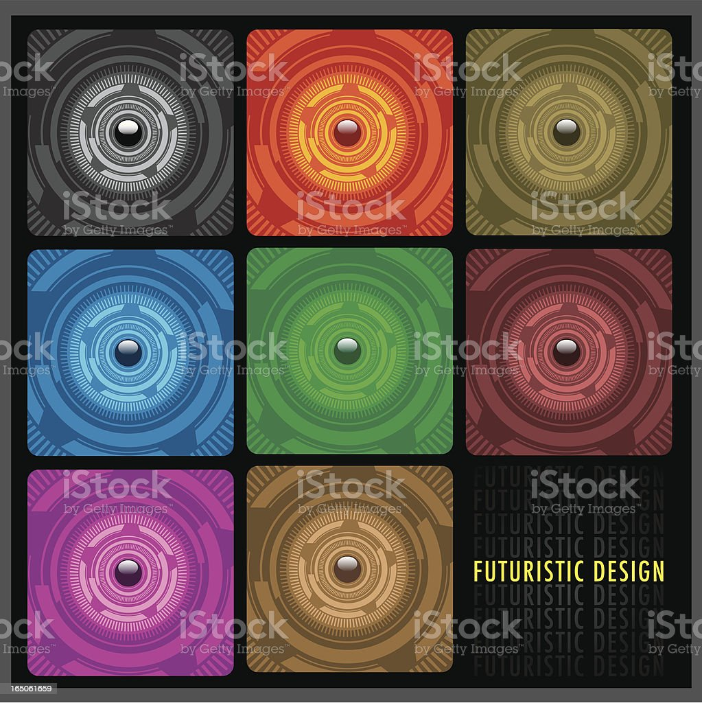 Futuristic design set. royalty-free stock vector art