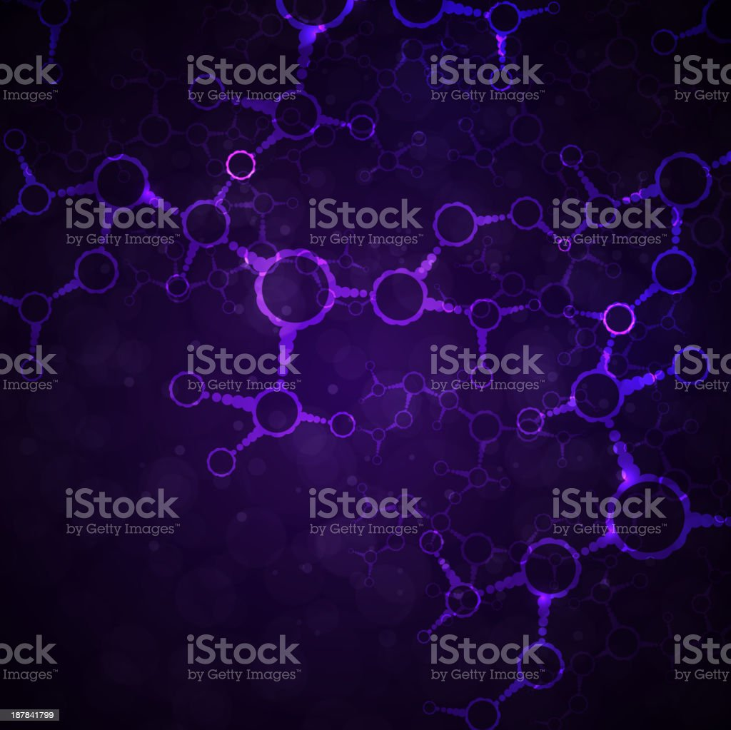Futuristic dna royalty-free stock vector art