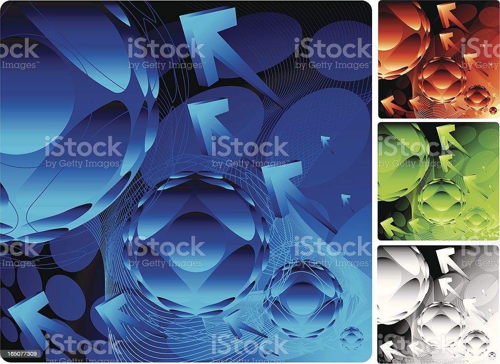Futuristic electron background royalty-free stock vector art