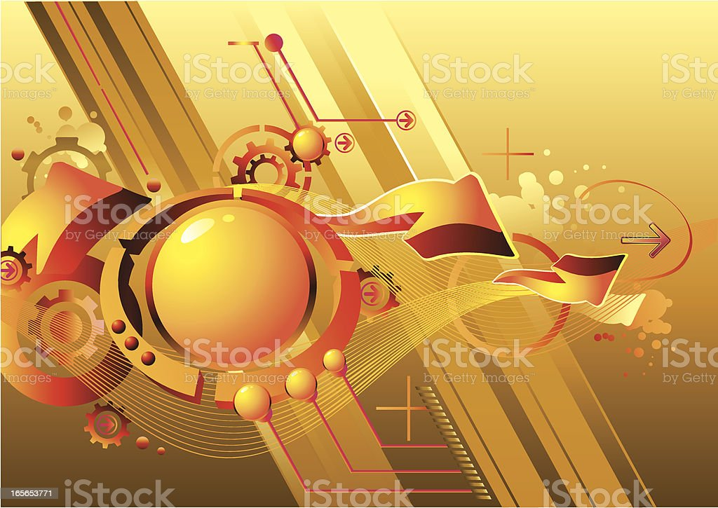 Futuristic flow royalty-free stock vector art