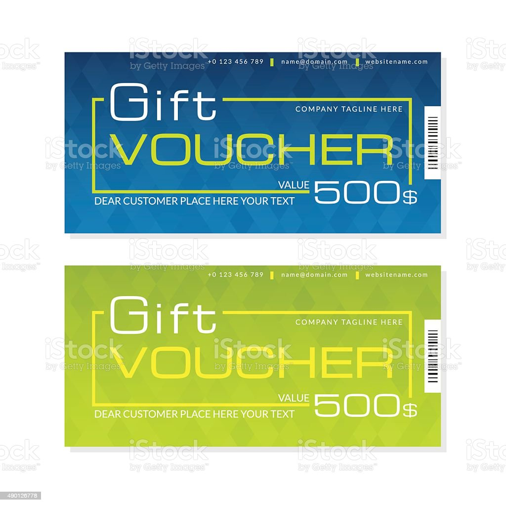 futuristic gift voucher templates in two colors stock vector art futuristic gift voucher templates in two colors royalty stock vector art