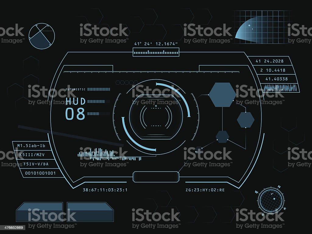 Futuristic graphic user interface vector art illustration