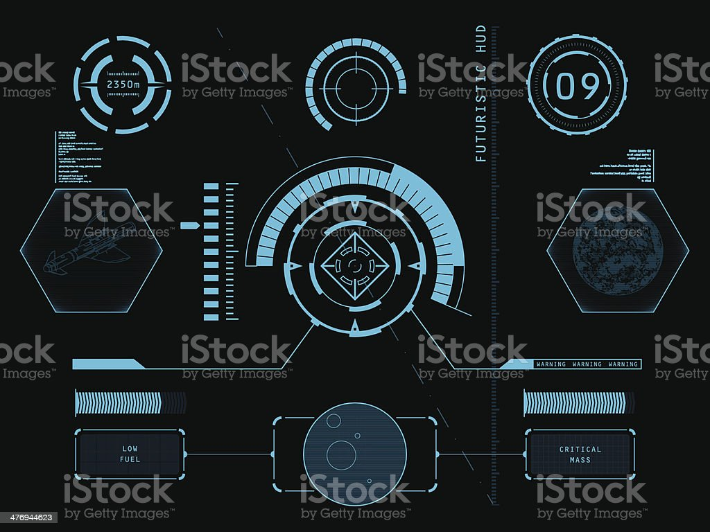 Futuristic graphic user interface vector art illustration
