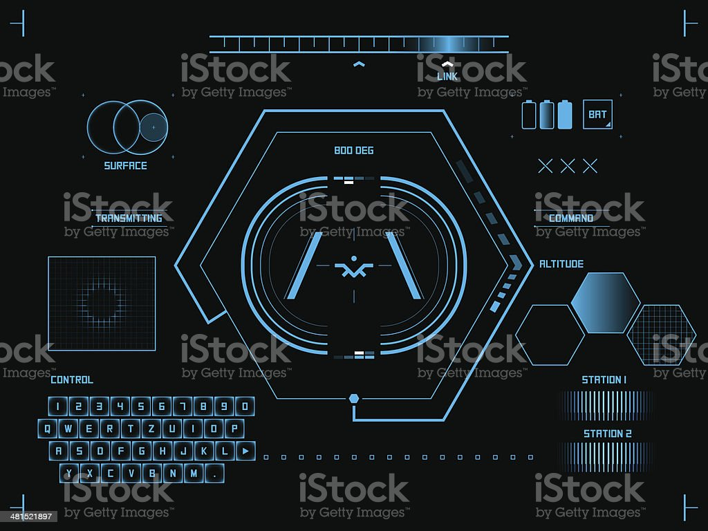 Futuristic graphic user interface royalty-free stock vector art