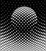 Futuristic Halftone Pattern Background with sphere