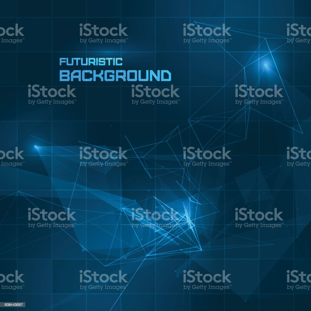 Futuristic HUD background vector art illustration