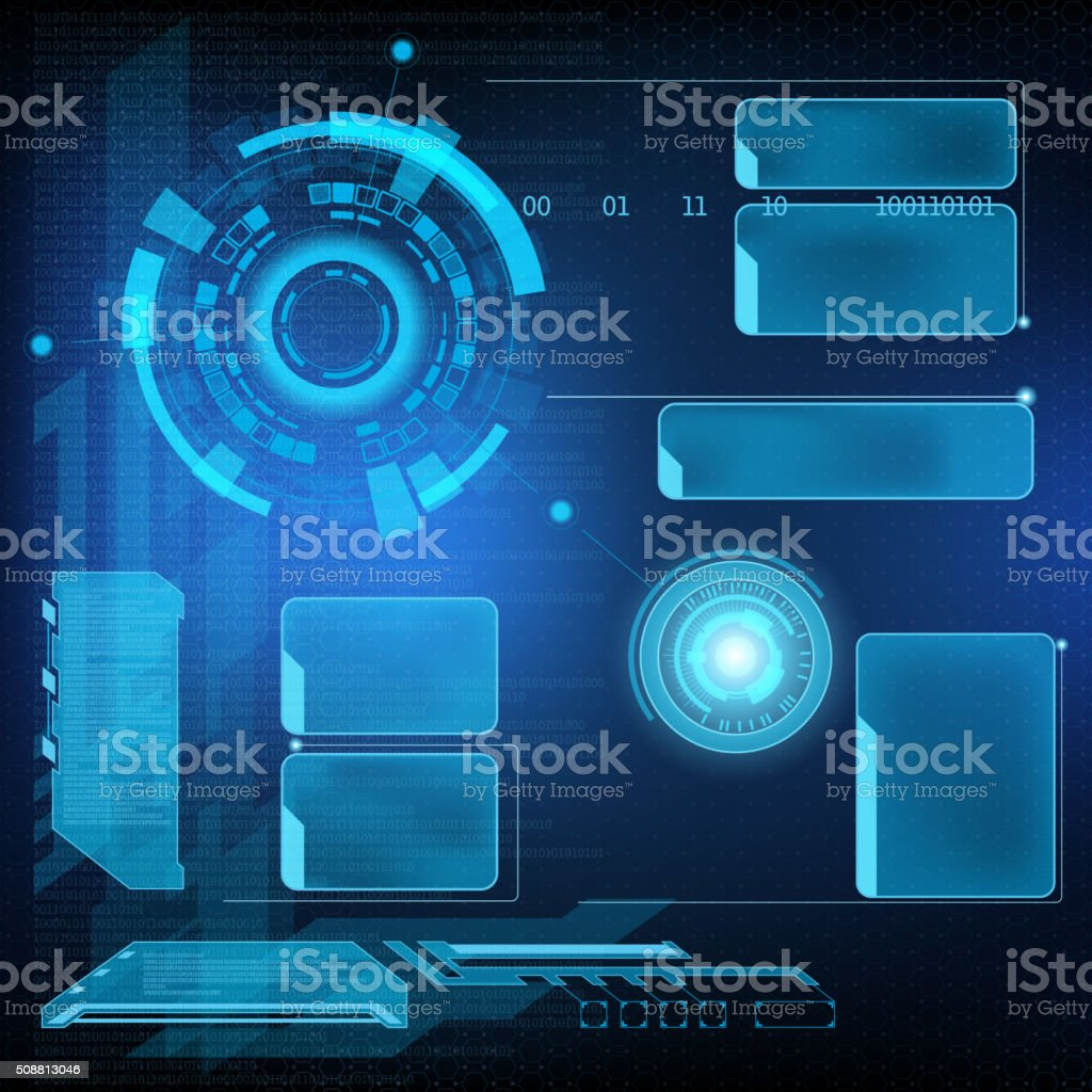 Futuristic interface HUD vector art illustration