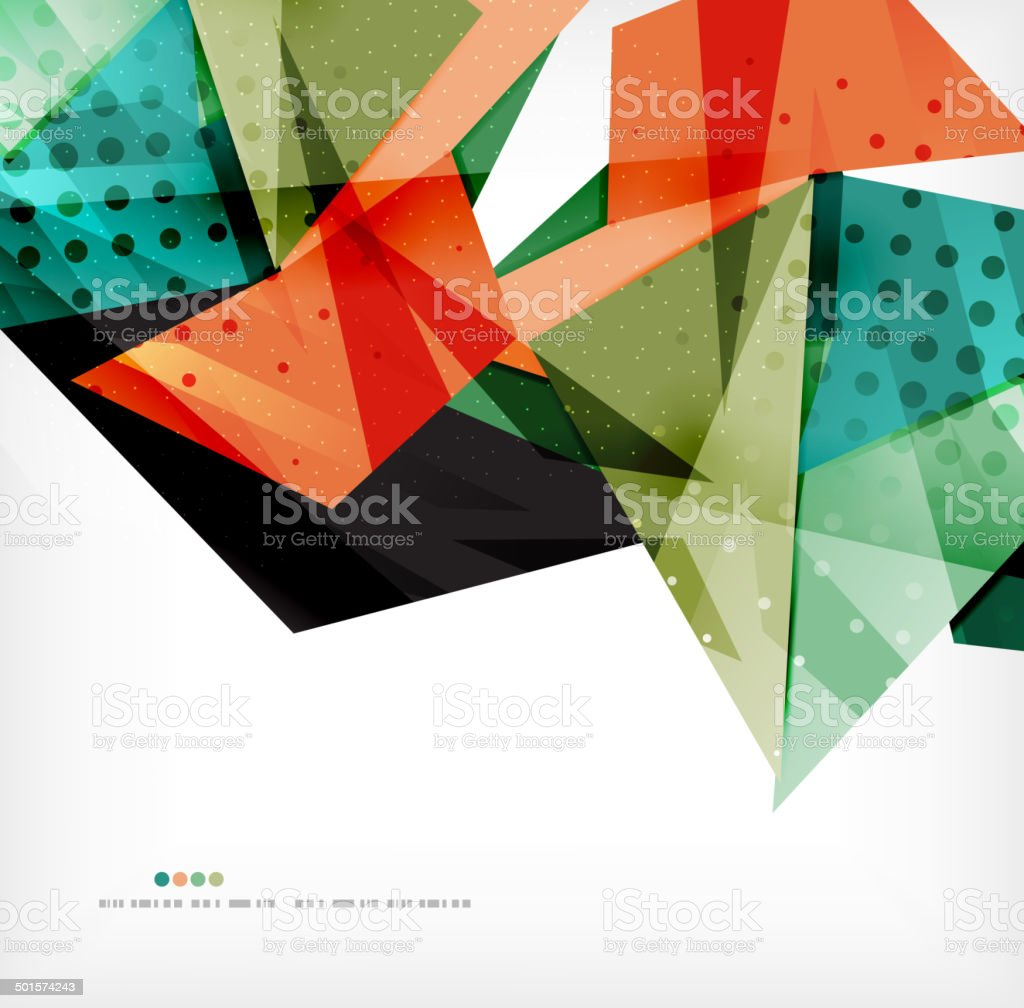 Futuristic shapes vector abstract background royalty-free stock vector art