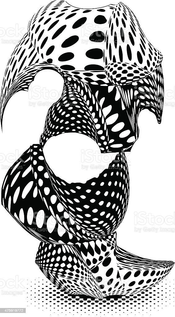 Futuristic Totem Pole. vector art illustration