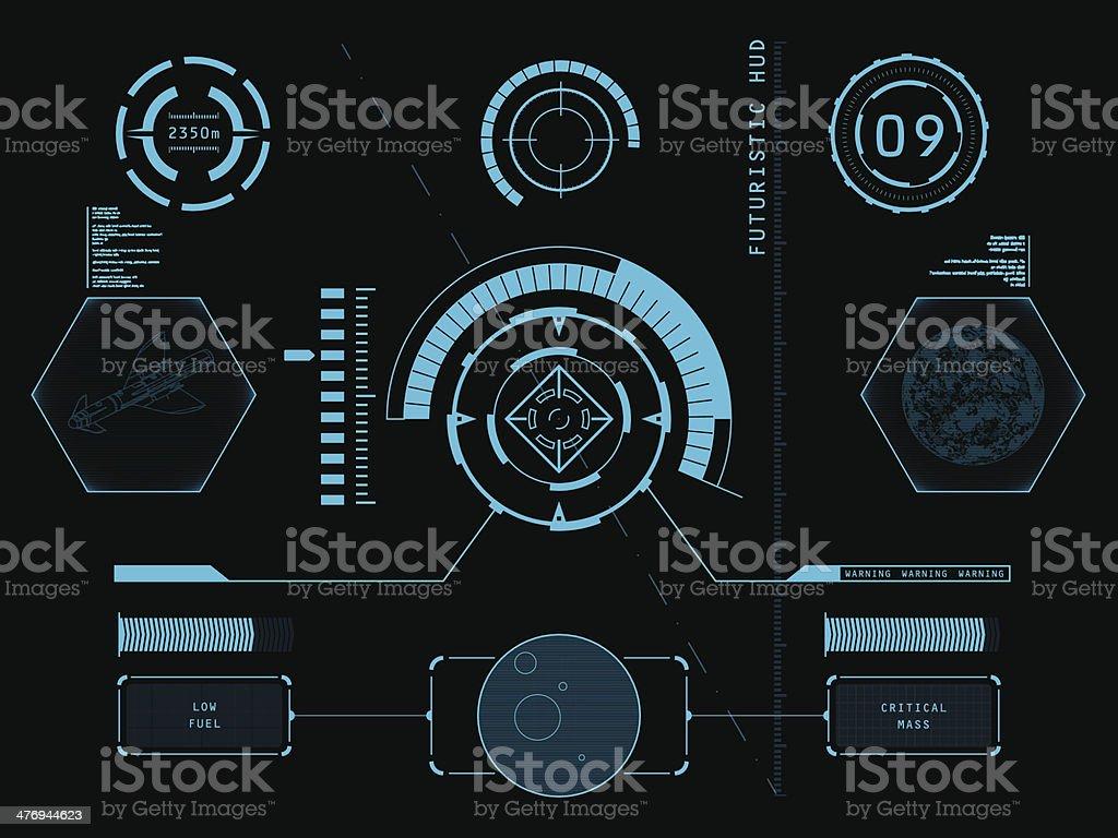 Futuristic user interface HUD vector art illustration