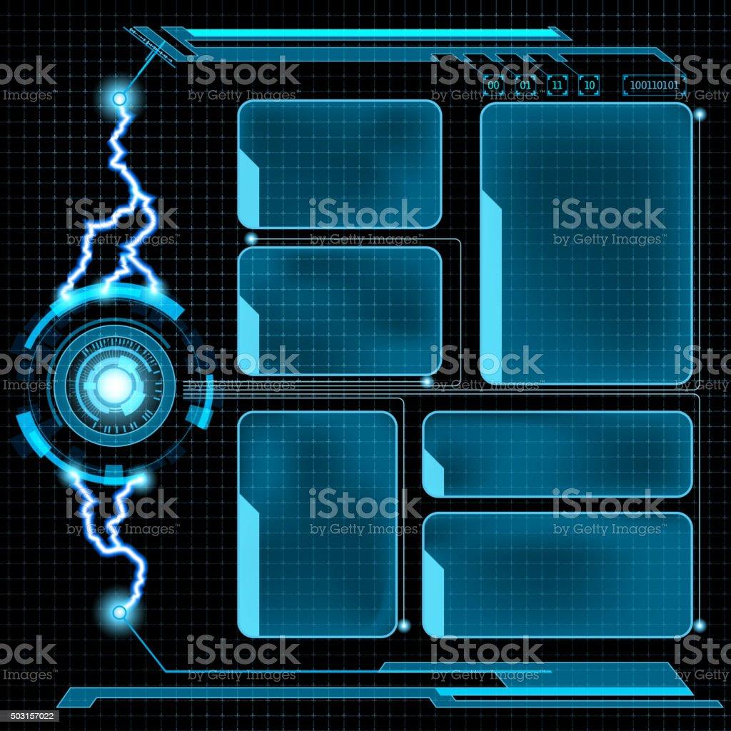 Futuristic user menu interface HUD vector art illustration