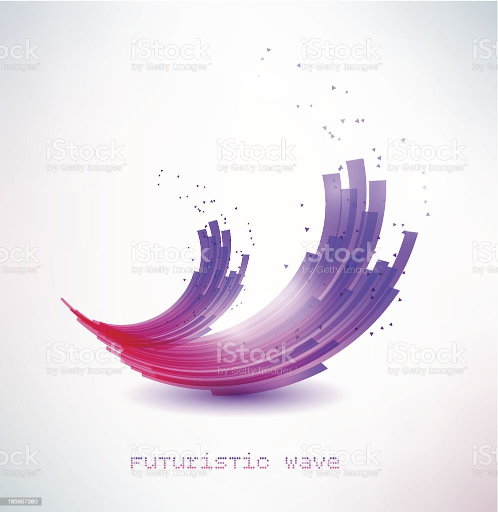 futuristic wave sign royalty-free stock vector art