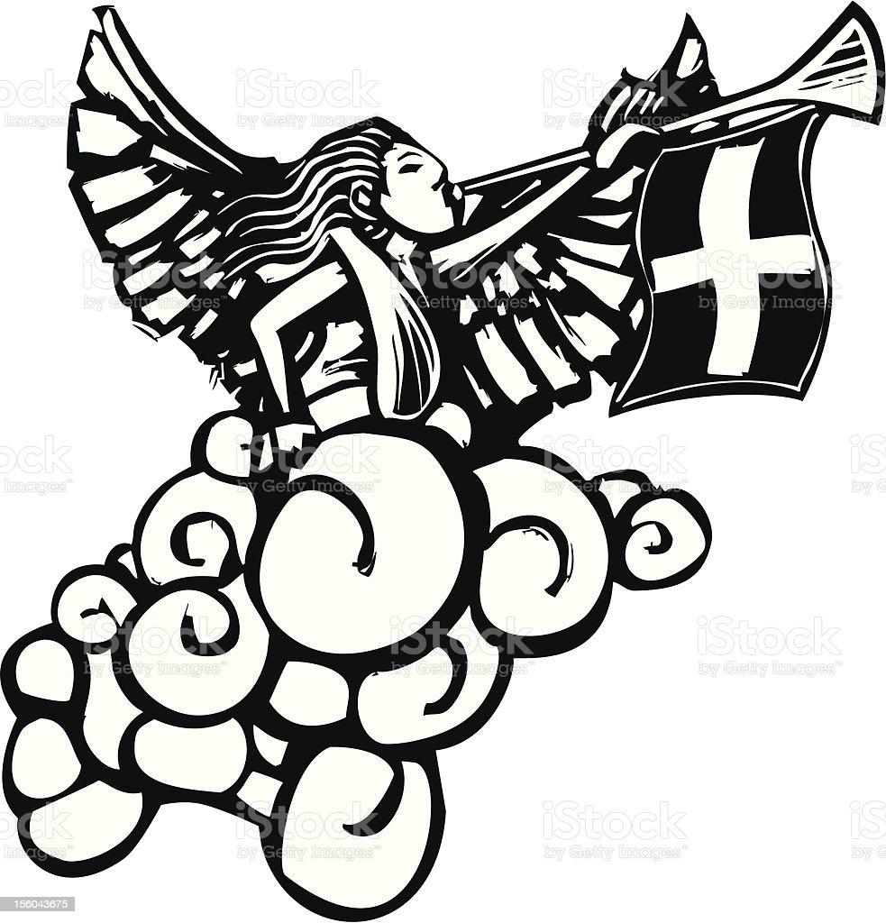 Gabriel Angel vector art illustration