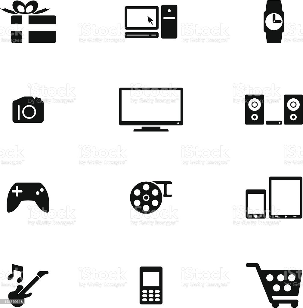 Gadget Shopping Icon Set vector art illustration