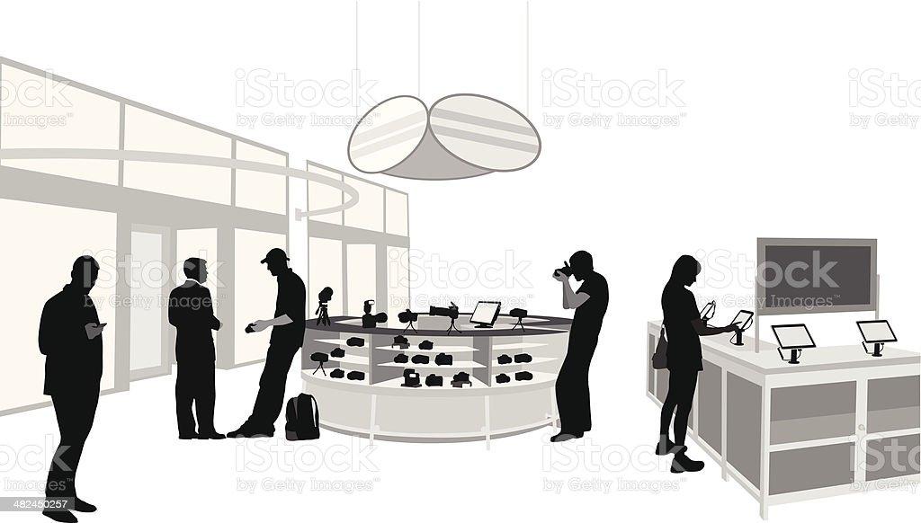 Gadgets vector art illustration