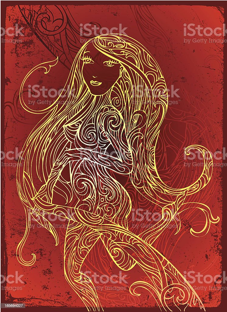 Gaia spirit royalty-free stock vector art