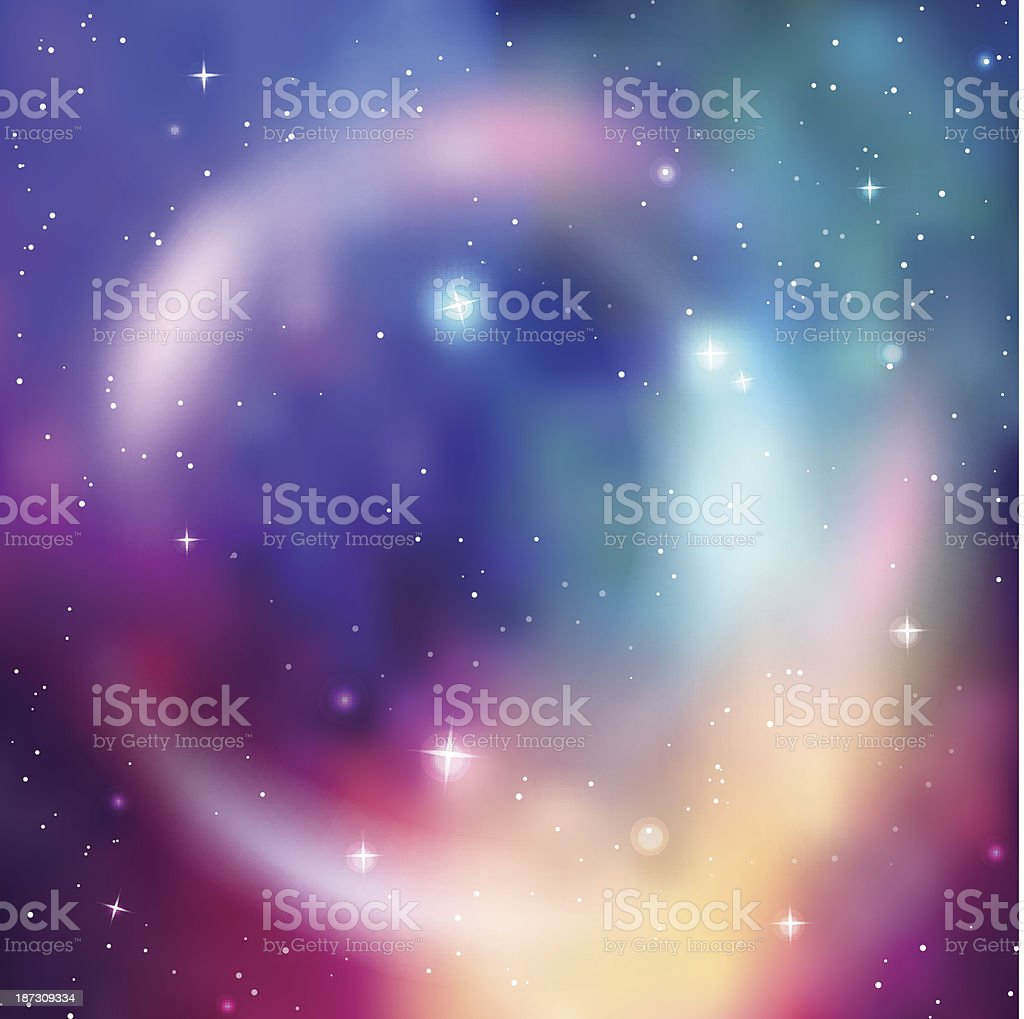 Galaxy background. Abstract colorful vector illustration royalty-free stock vector art