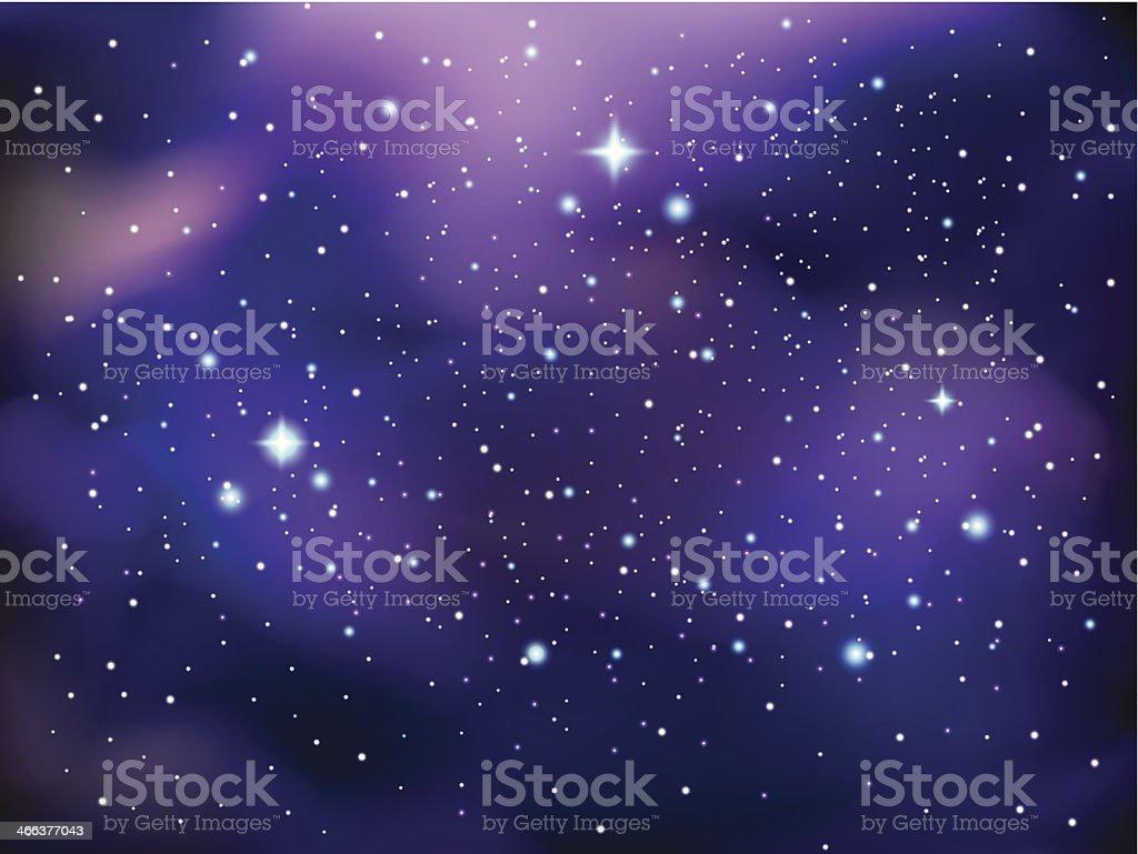 Galaxy background vector art illustration