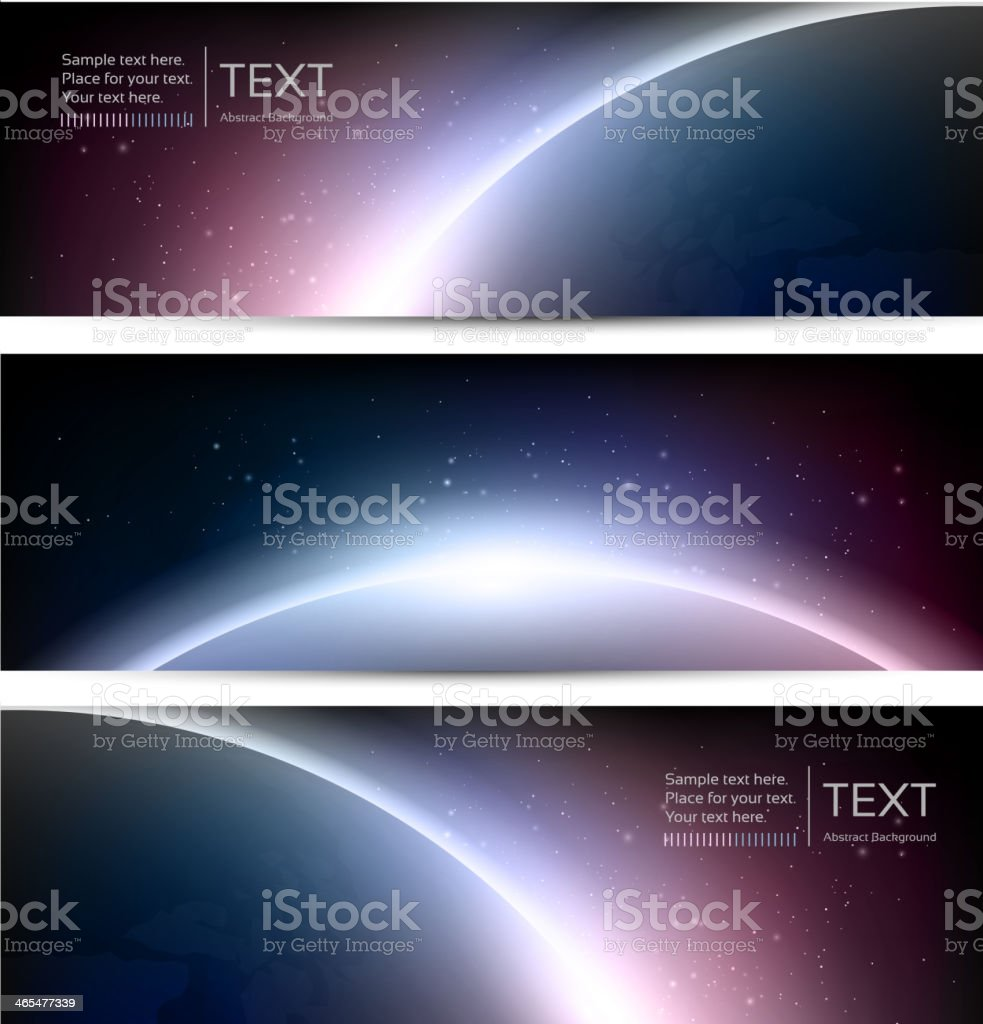 Galaxy Eclipse banners vector art illustration