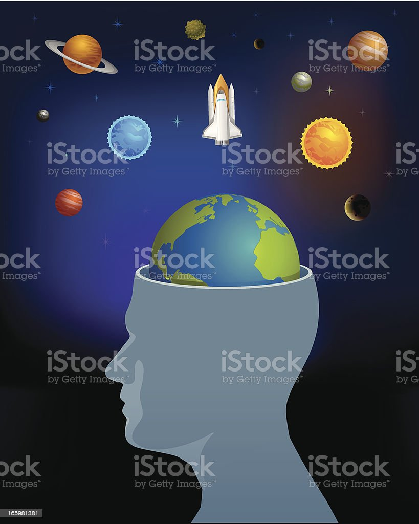 Galaxy exploration in mind. royalty-free stock vector art