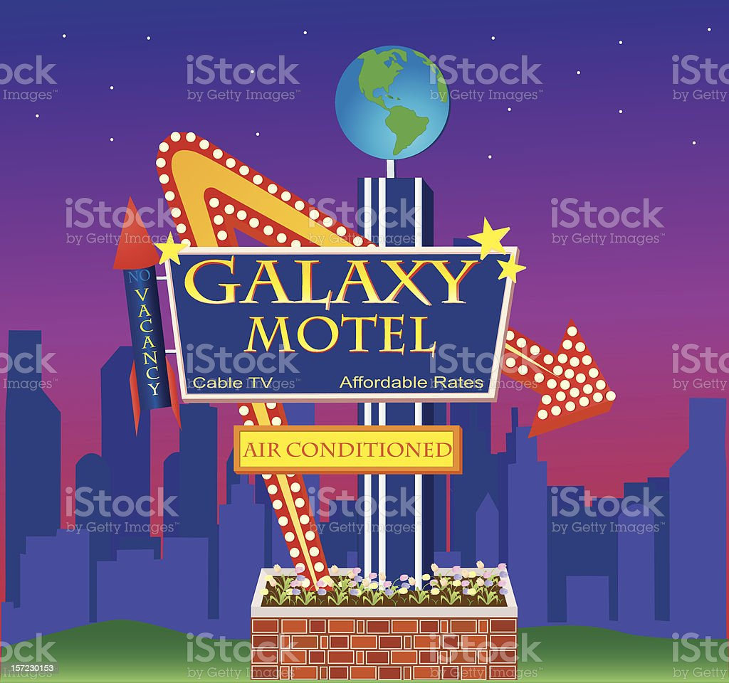 Galaxy Motel royalty-free stock vector art