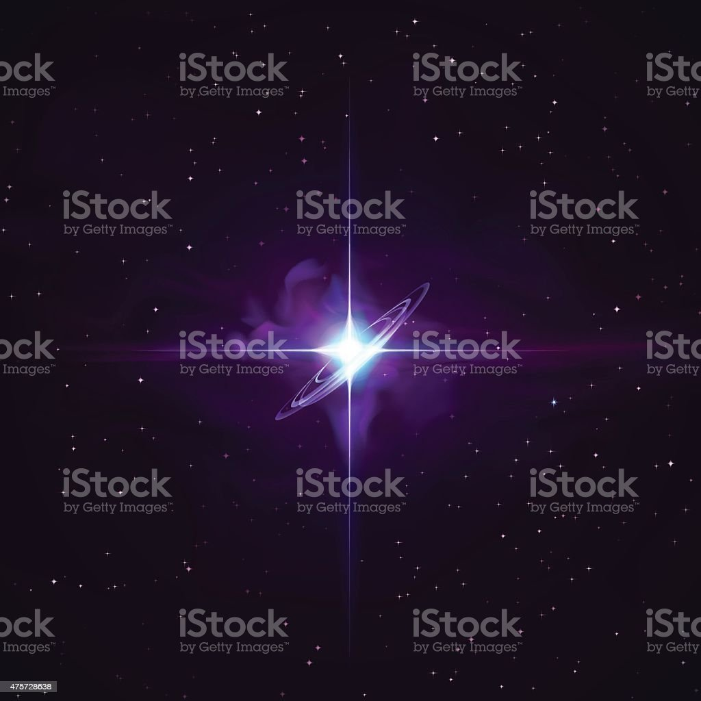 Galaxy Star Stock Vector Space Background vector art illustration