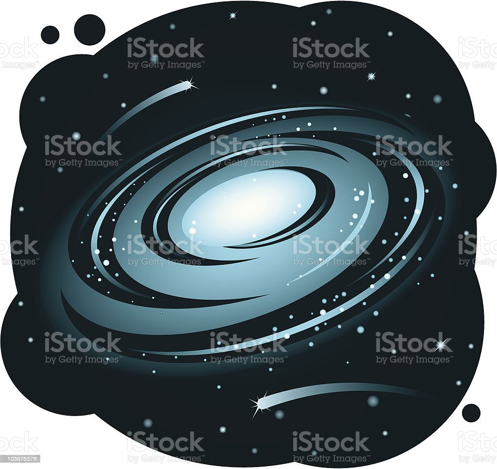 Galaxy royalty-free stock vector art
