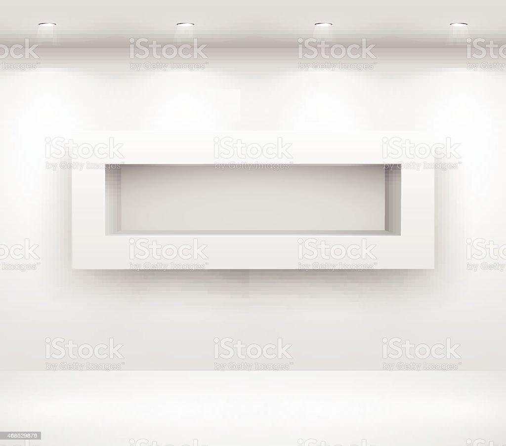 Gallery Interior vector art illustration
