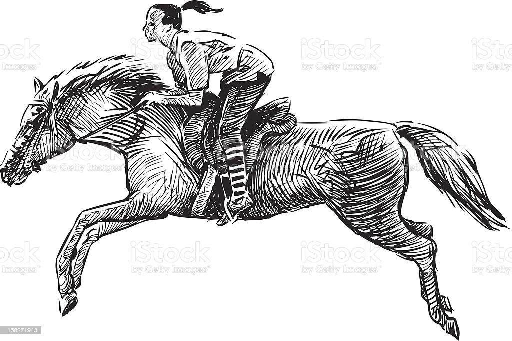 gallop royalty-free stock vector art