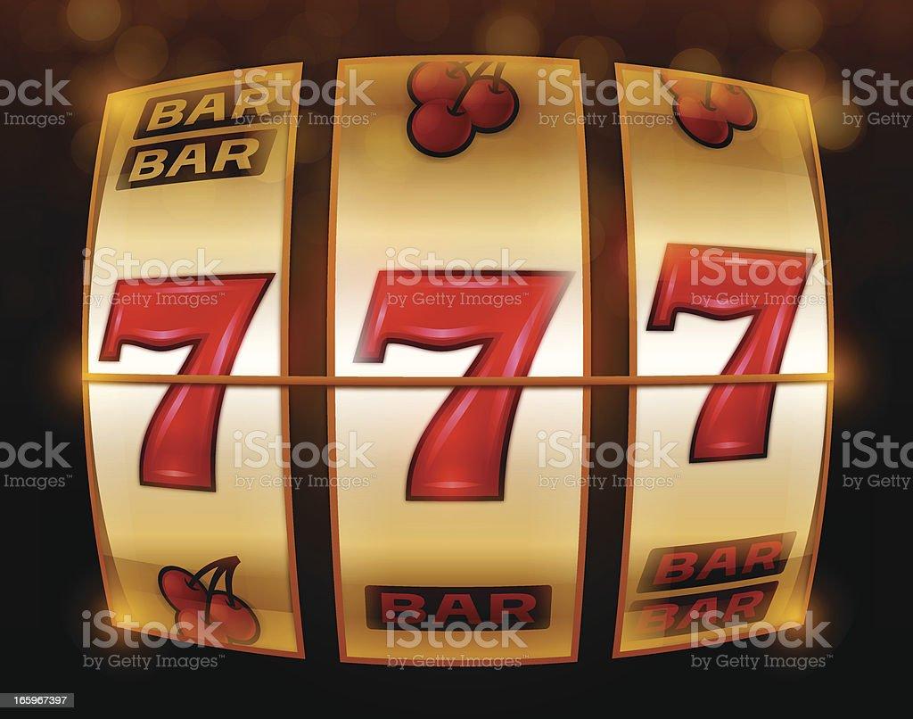 Gambling 777 Slot Machine vector art illustration