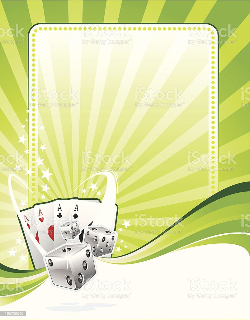 gambling aces background royalty-free stock vector art
