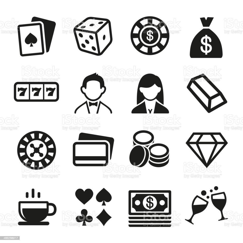 Gambling and Casino Icons Set. Vector royalty-free stock vector art