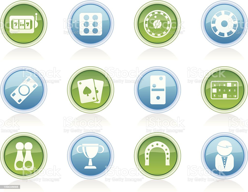 gambling and casino Icons royalty-free stock photo