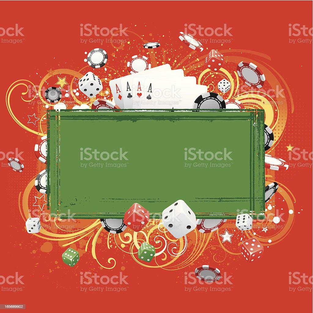 Gambling background vector art illustration