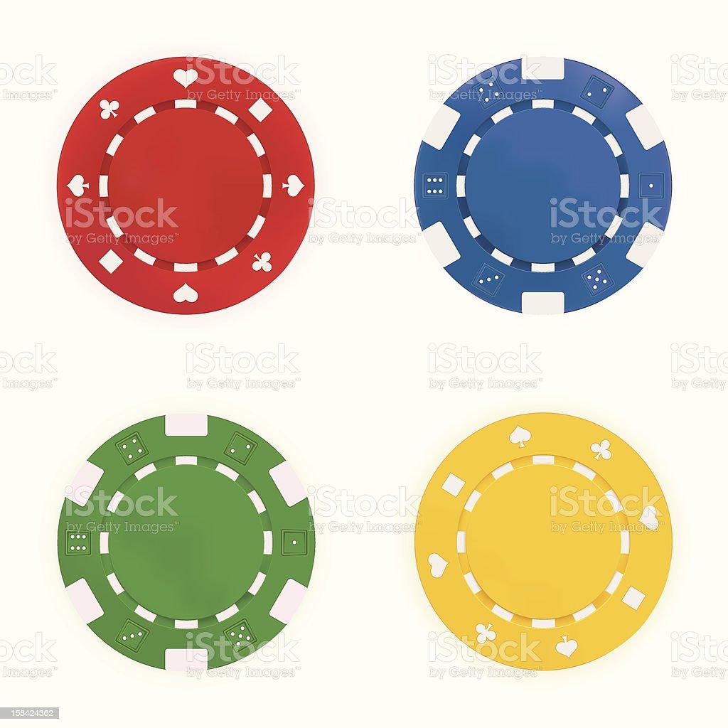 Gambling Chips vector art illustration